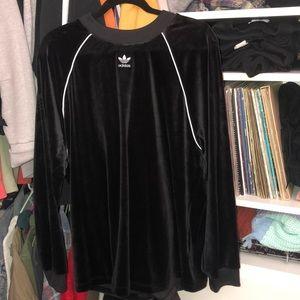 Adidas velvet sweater